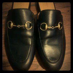 Gucci Princetown leather slipper💯Auth
